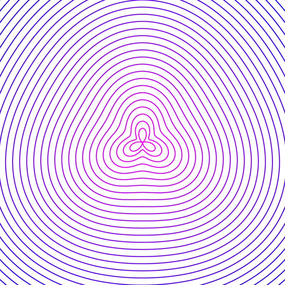 rose curve parametric architecture with attractor