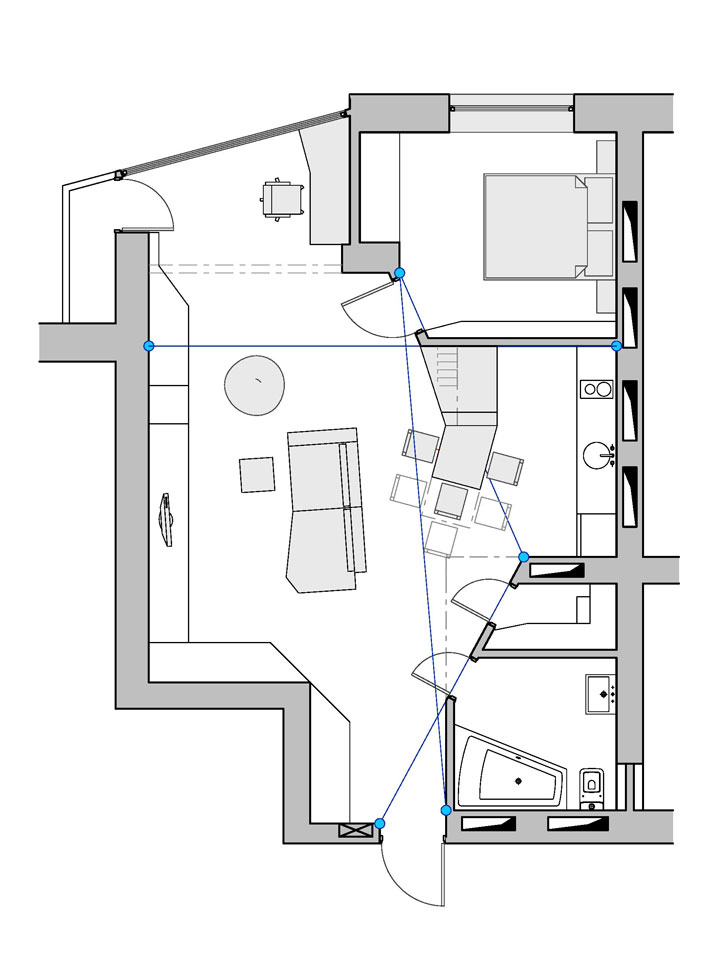 kyiv apartment design - plan drawing