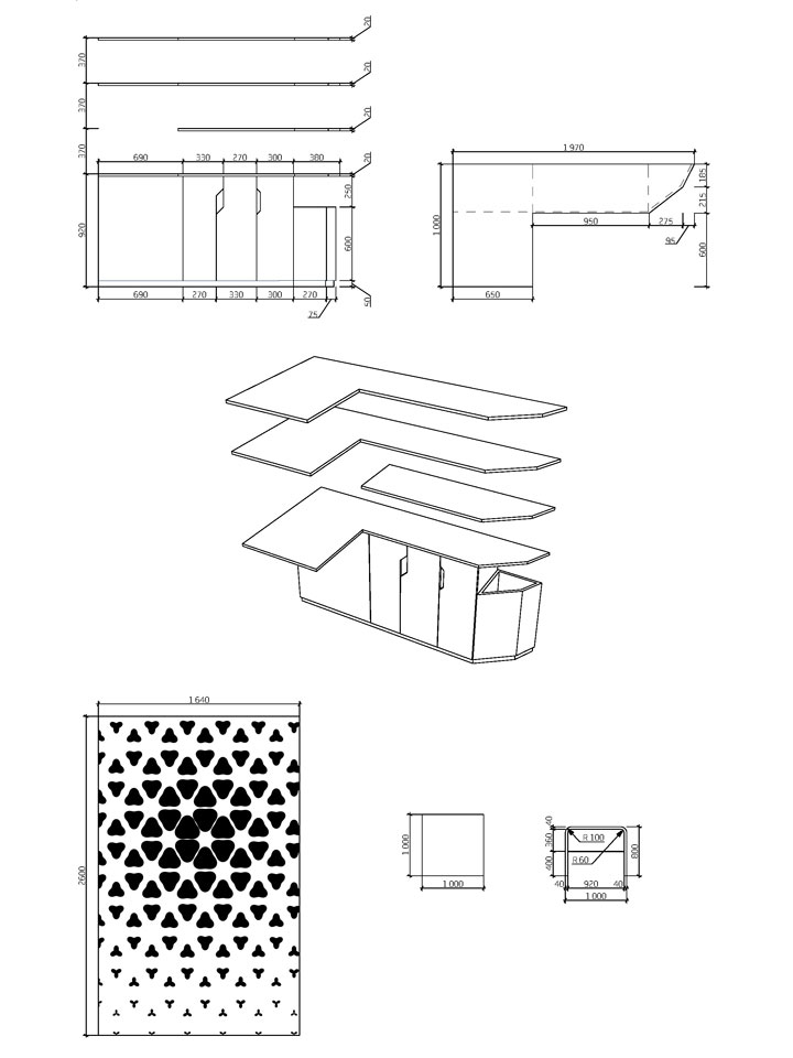 interior design - shelves drawing