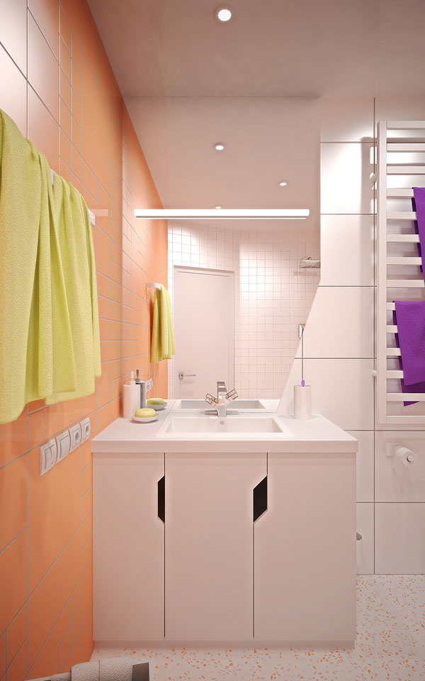 contemporary bathroom design in kyiv