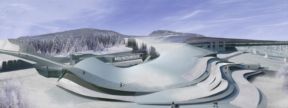 architecture: transport hub kyiv in winter