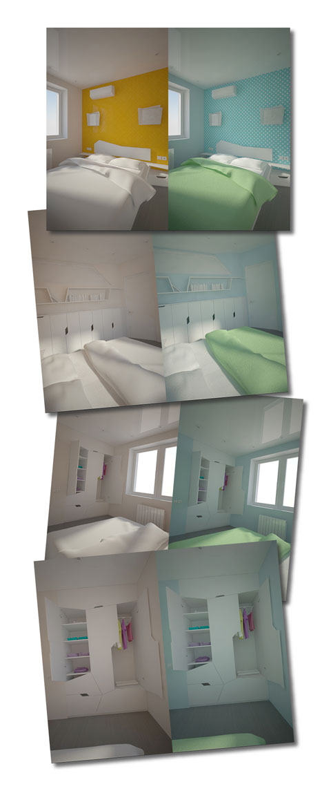 color scheme, bedroom design