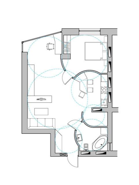 functional zoning, radial diagram