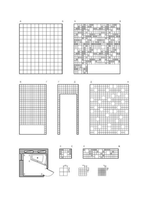 development of walls, bathroom