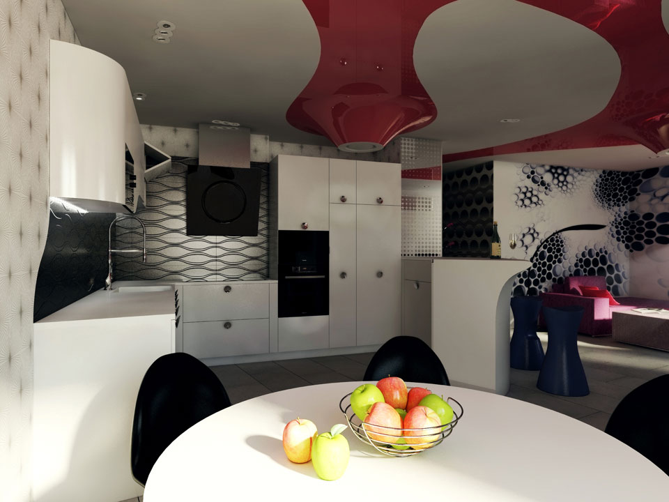 contemporary apartment design kiev kitchen