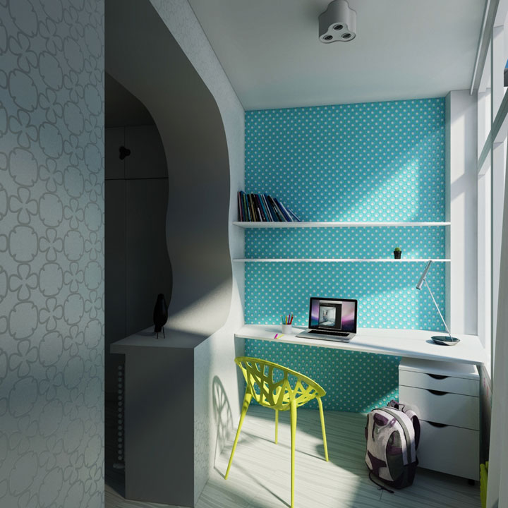 working place in children room design