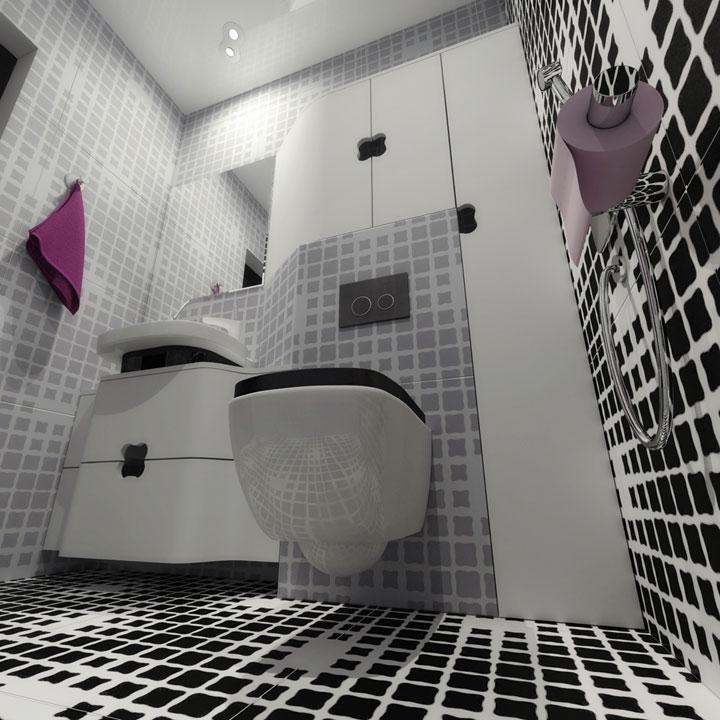 modern wc design - kiev studio apartment