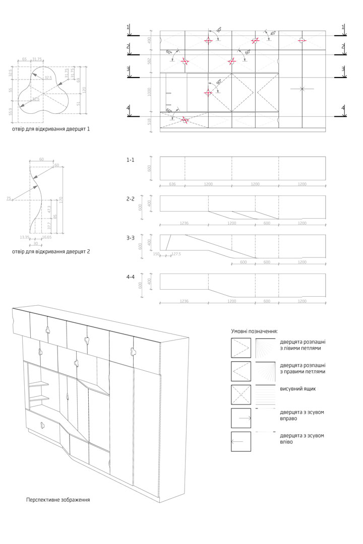 child`s room parametric furniture drawings