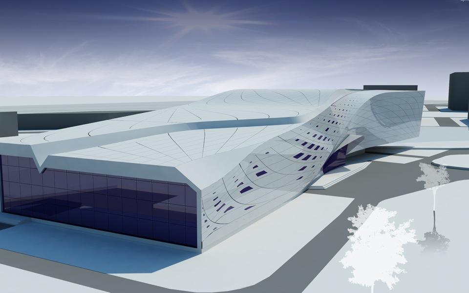 parametric architecture - kyiv sport center