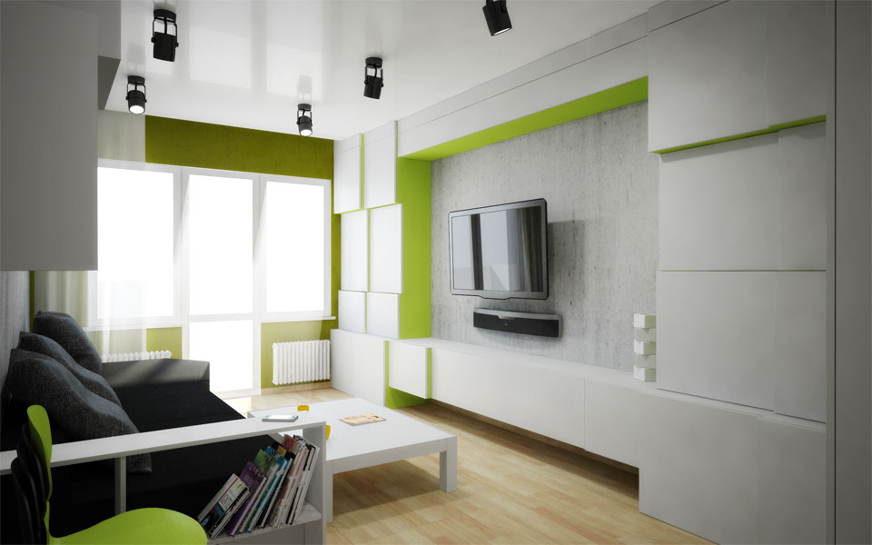 contemporary algorithmic design of apartment in moscow