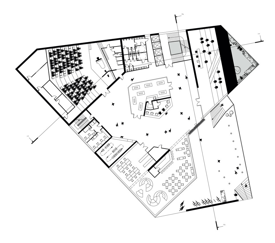 kyiv contemporary architecture - ground floor plan