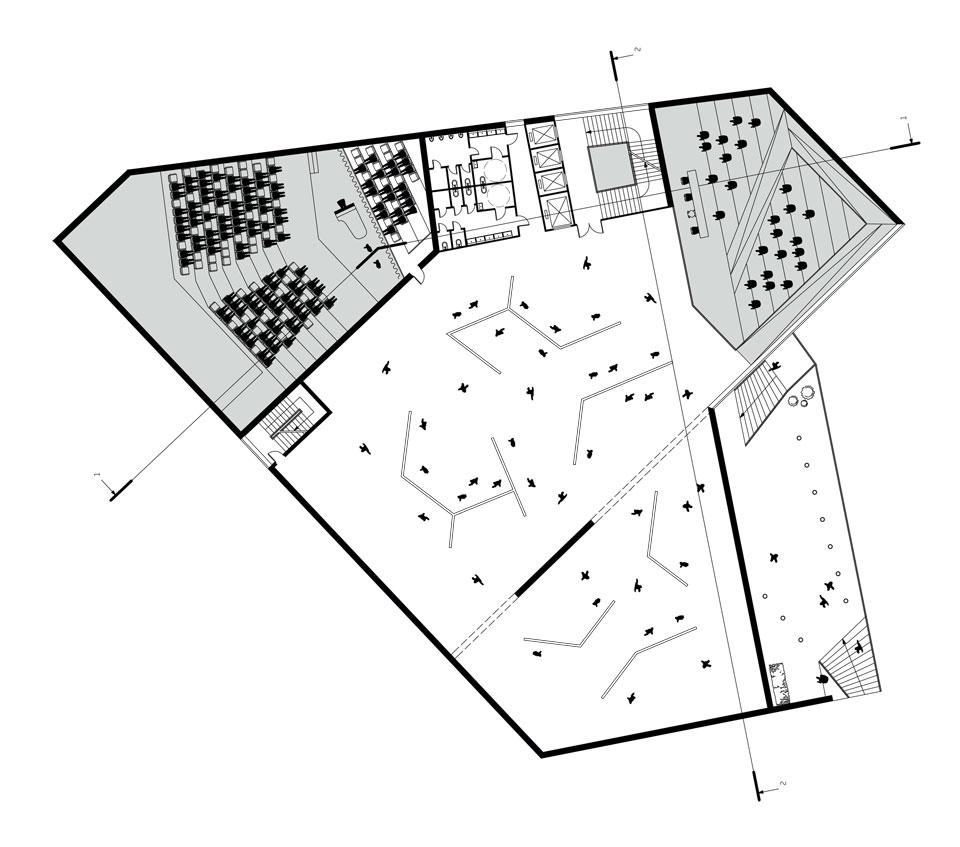 andriivskyi uzviz architecture - 1st floor plan