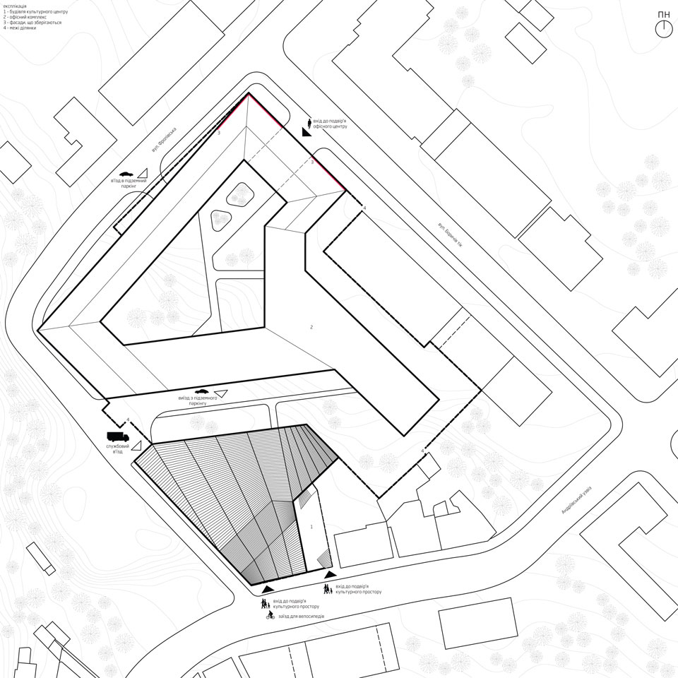 andriivskyi descent architectural proposal - general plan