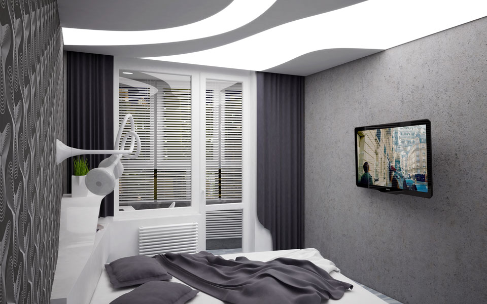 bedroom interior design - kyiv ukraine