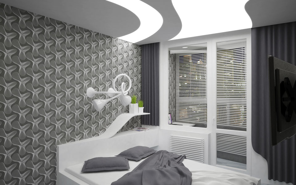 bedroom digital interior - kyiv apartment