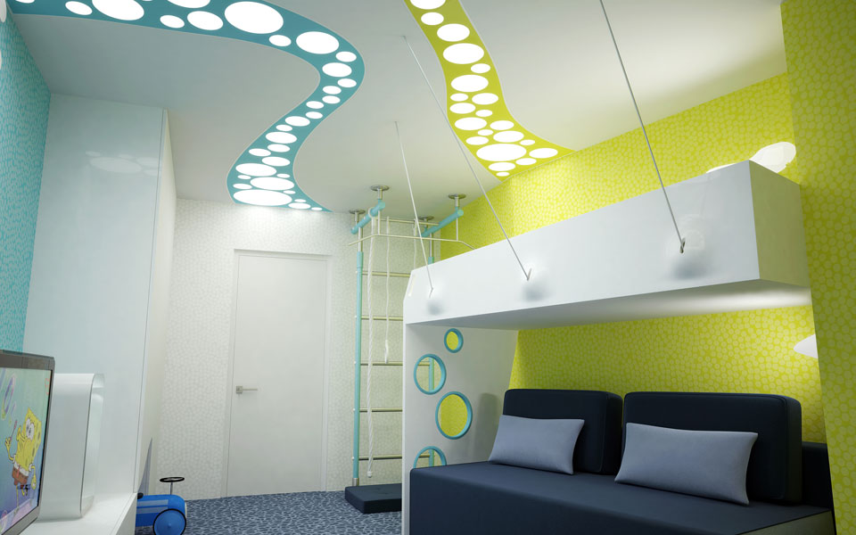 contemporary design of children room - ukraine