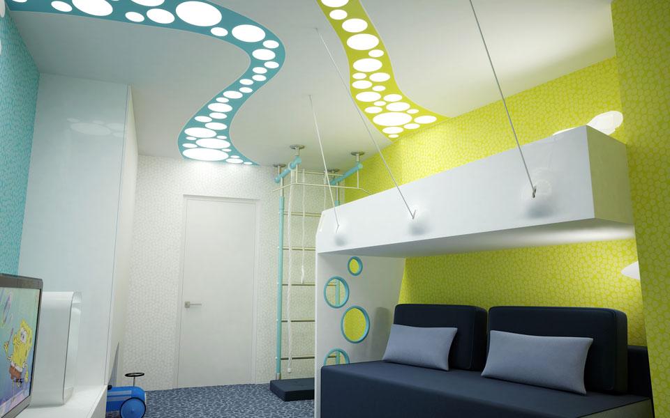 contemporary design of children room - ukraine