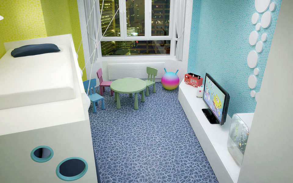 children room - apartment design in kyiv