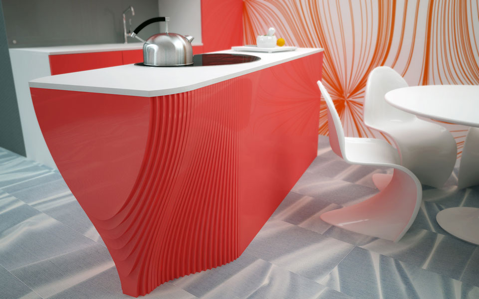 digital design of living interior, kyiv