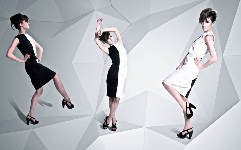 architectural space for sqviral clothing collection