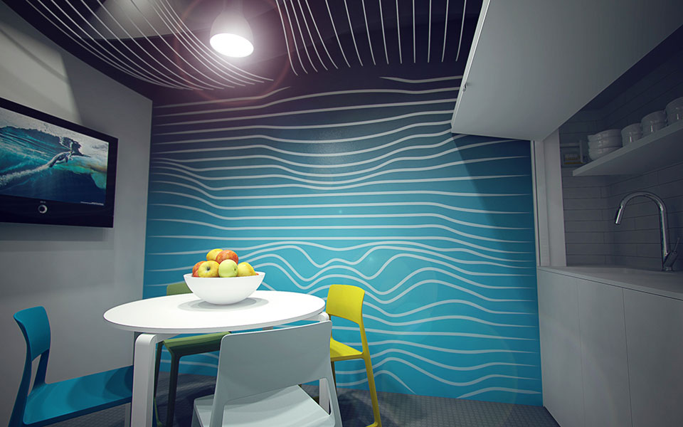 office design - wallpaper print
