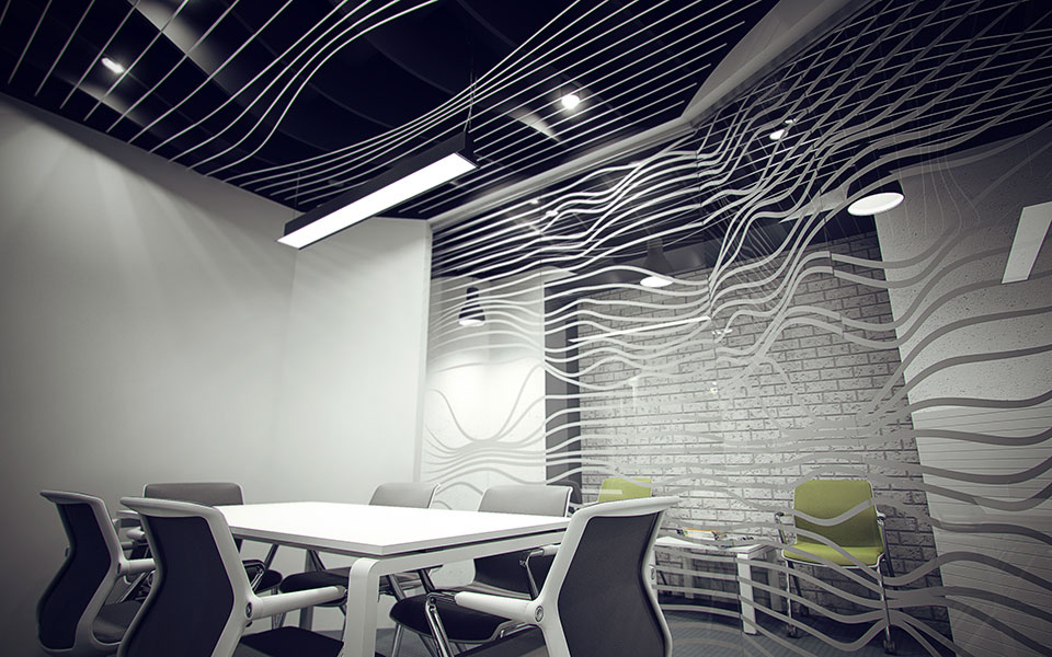 meeting room interior - parametric design kyiv