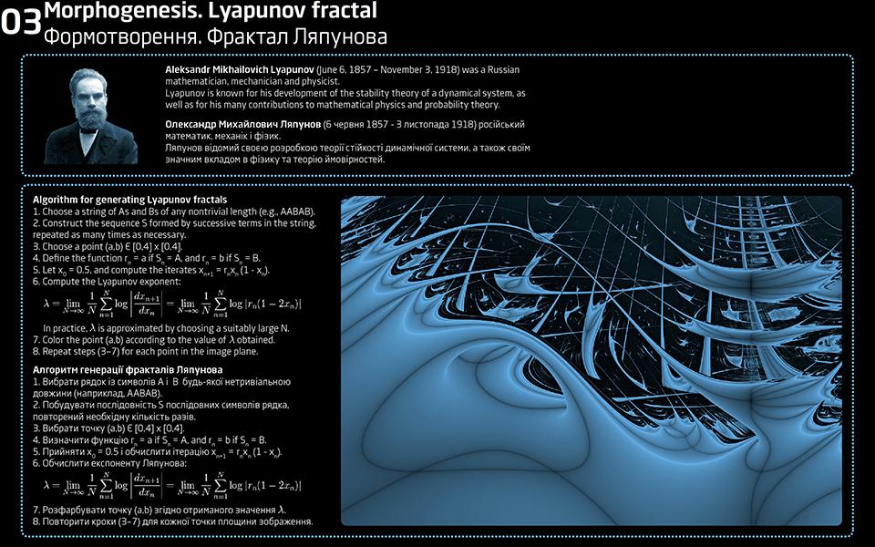 lyapunov fractal - morphogenesis of pavilion