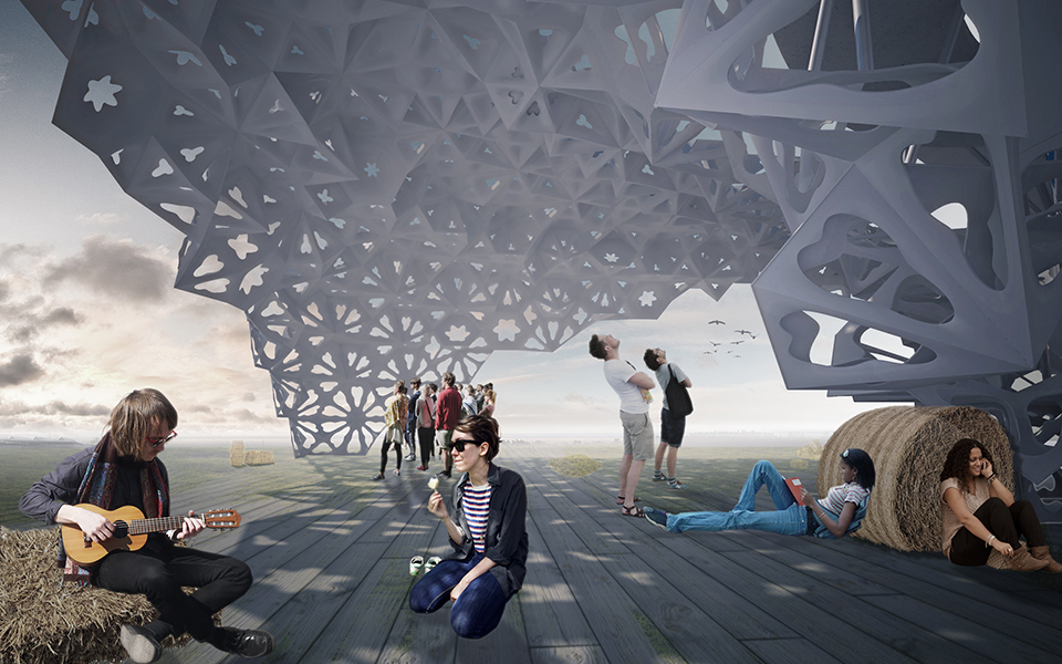 parametric architecture - pavilion of ukraine expo