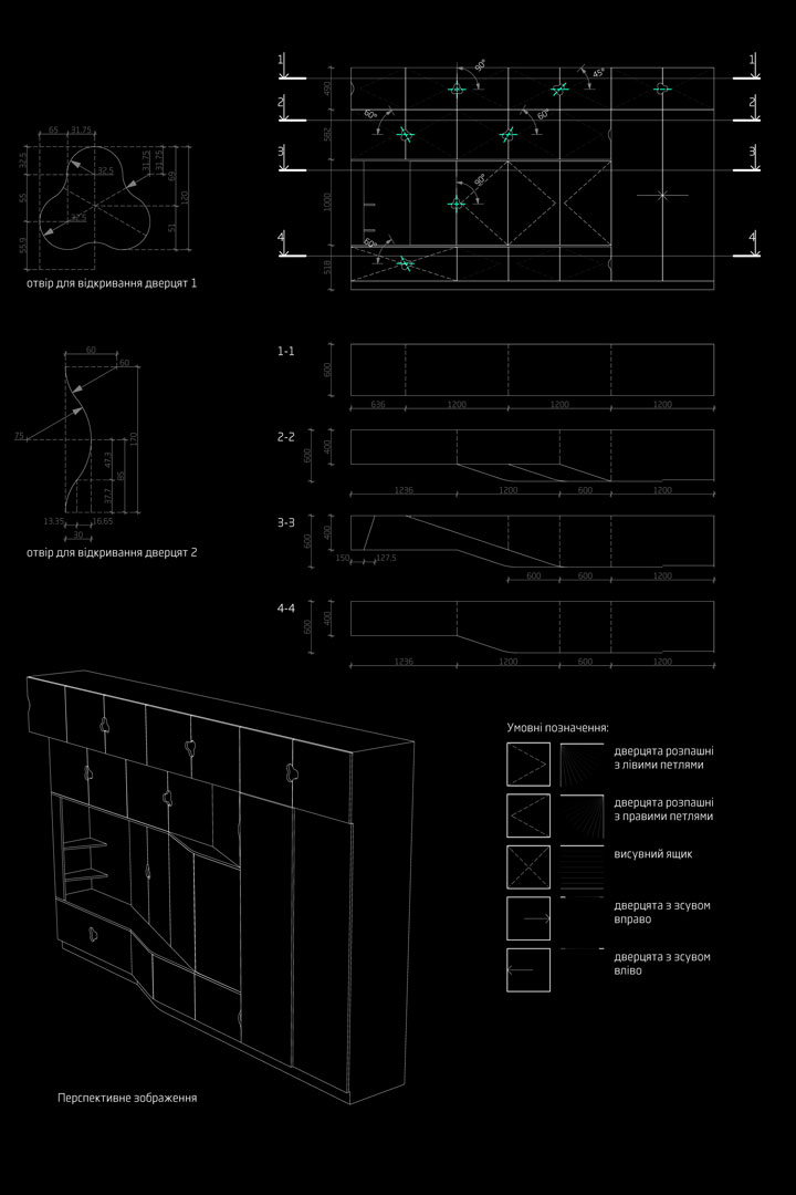 interior design -manufacturing drawings