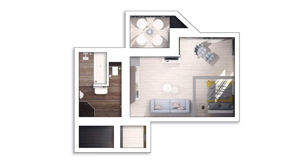 kyiv khrushchevka studio design plan