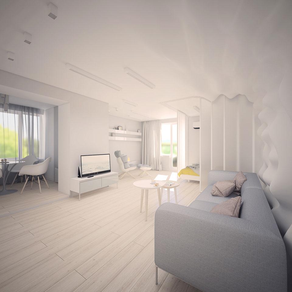 apartment design kyiv - contemporary interior