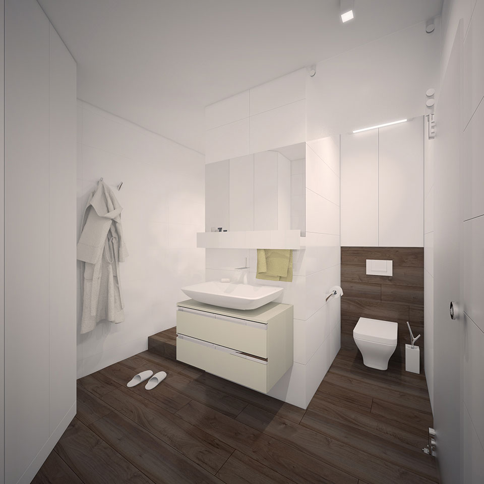 bathroom interior design - kyiv apartment