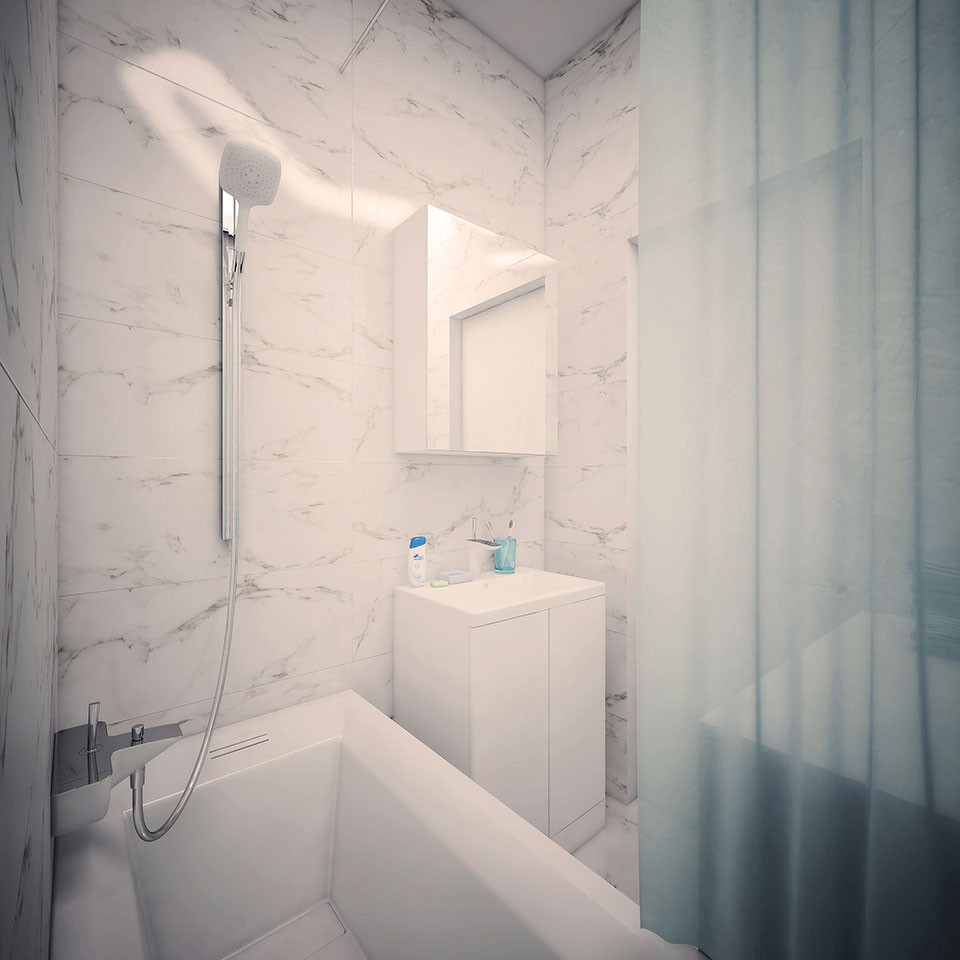 moscow flat interior - bathroom design