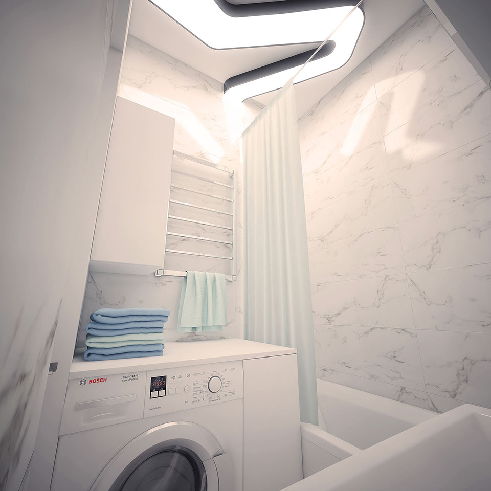 bathroom interior moscow - parametric architecture
