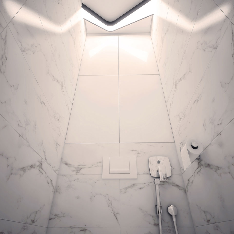 parametric design - toilet moscow apartment