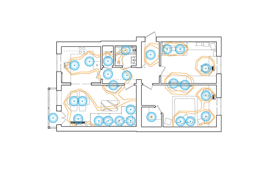 moscow flat interior - lighting diagram