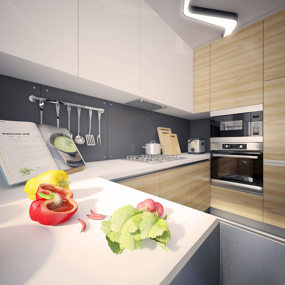 kitchen interior moscow - parametric architecture