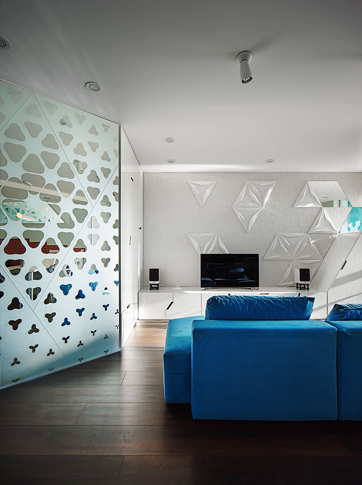 open space in luxury parametric interior kyiv