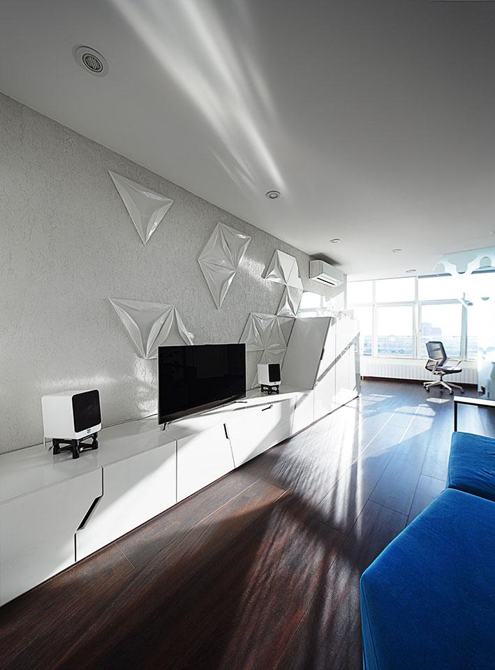 parametric modern open space in flat