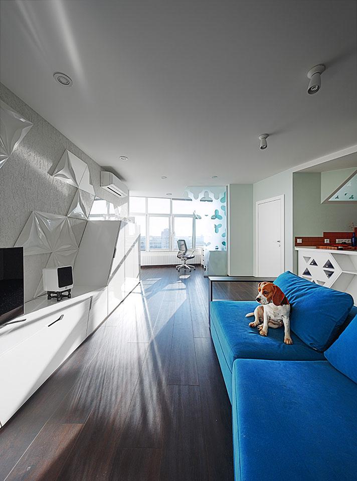 luxury open plan apartment