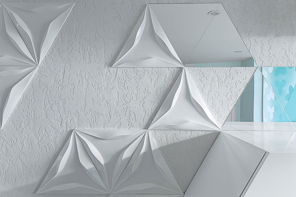 triangular pattern on the wall ukraine