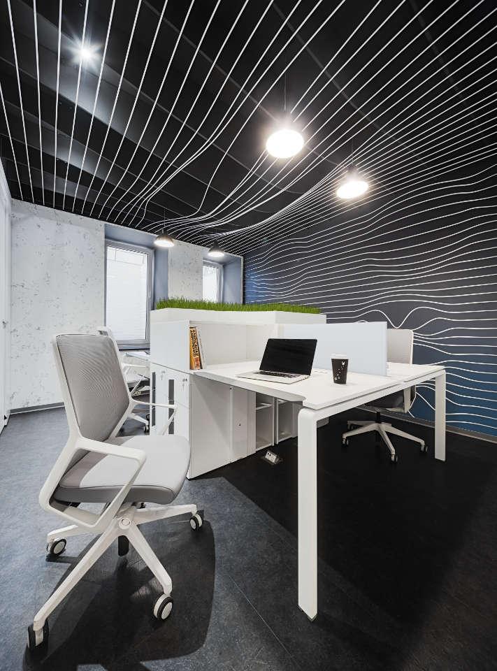 office design with grass Kyiv Ukraine
