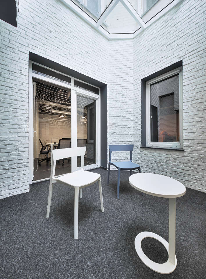 atrium parametric office design in Kyiv