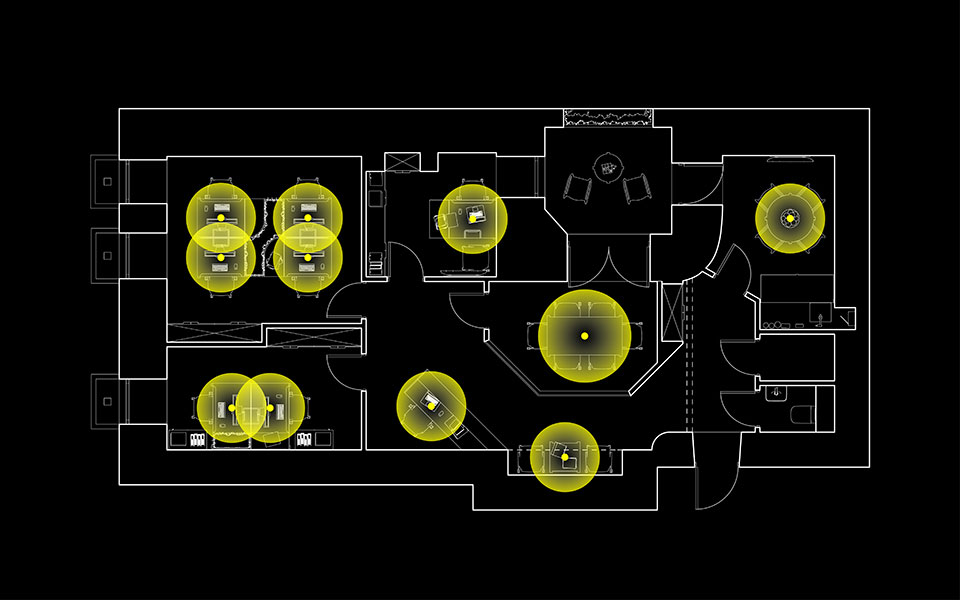 office plan with attractors