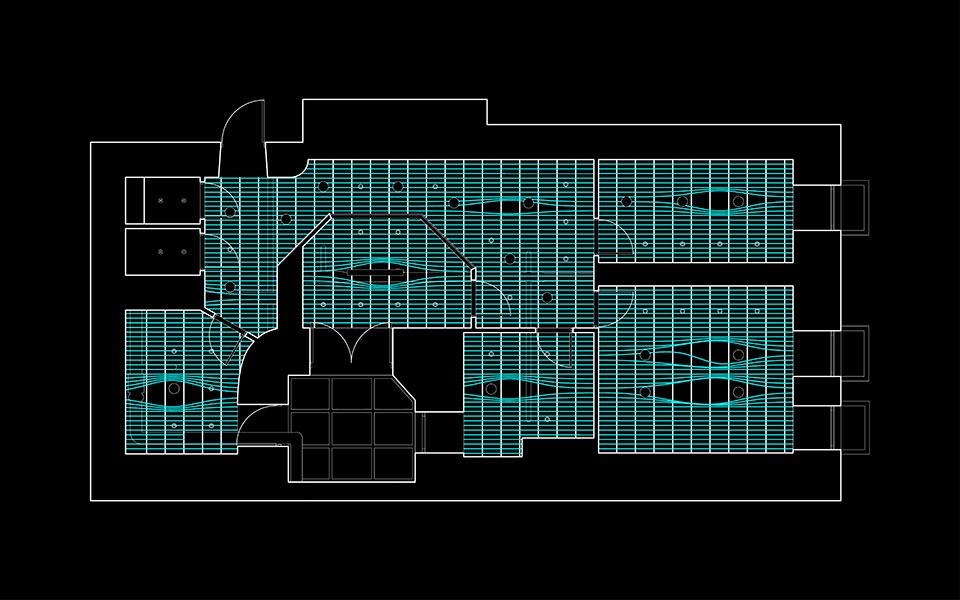 ceiling plan of parametric office design