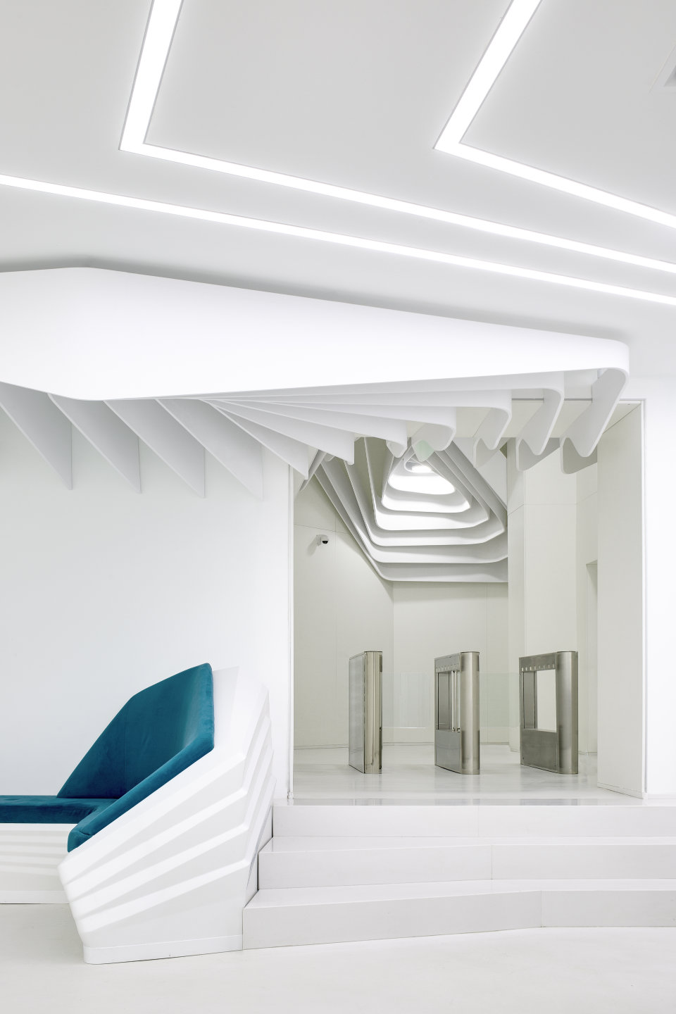 contemporary office design. white parametrics