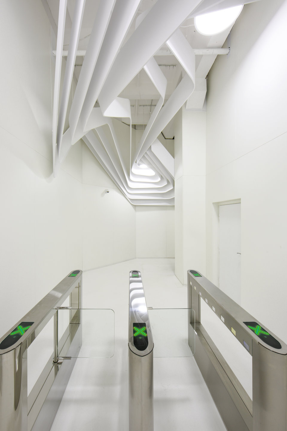 elevator hall in parametric office