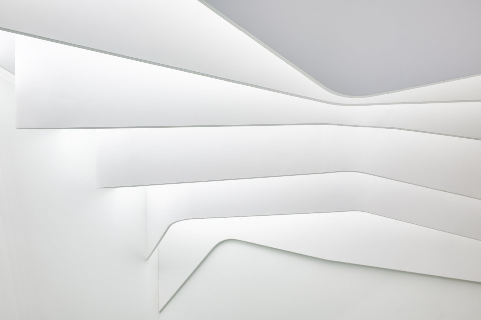 close up of white parametric ceiling - ukraine