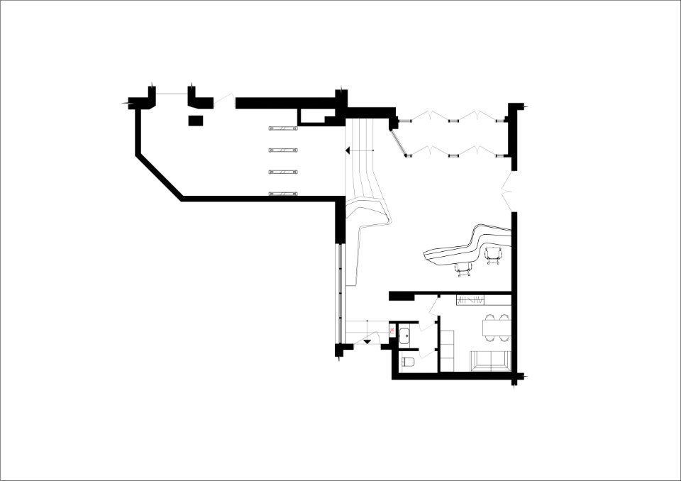 plan of luxury parametric office hall