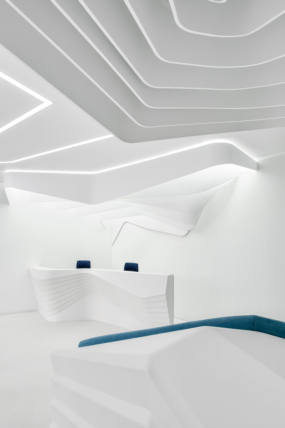 parametric reception luxury interior design